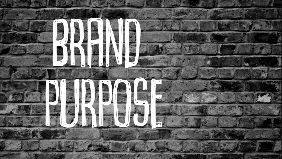 On finding your brand purpose ..